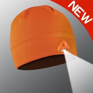 new powercap 2.0 orange light beanie