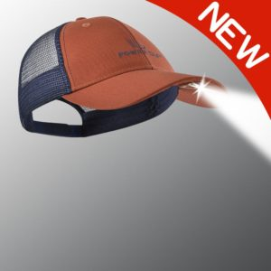 new orange and blue powercap lighted hat