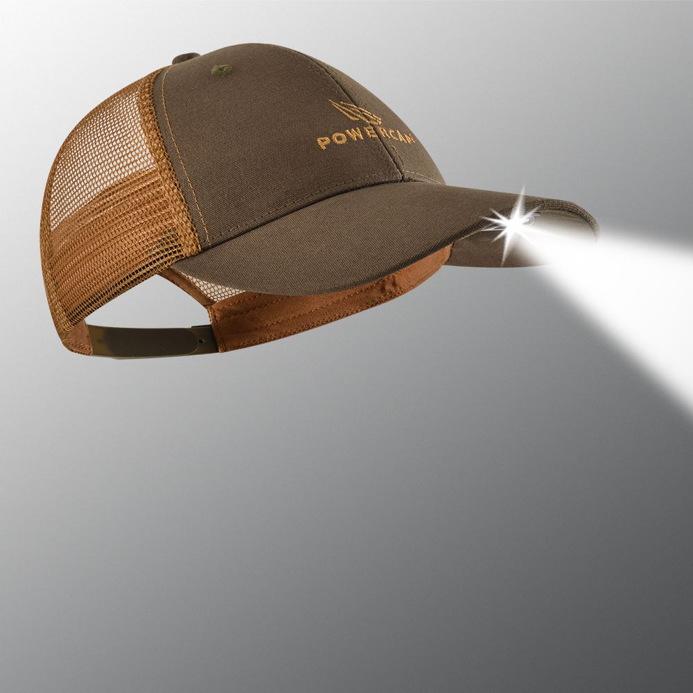 POWERCAP 2.0 Orange and Brown Lighted Trucker Hat