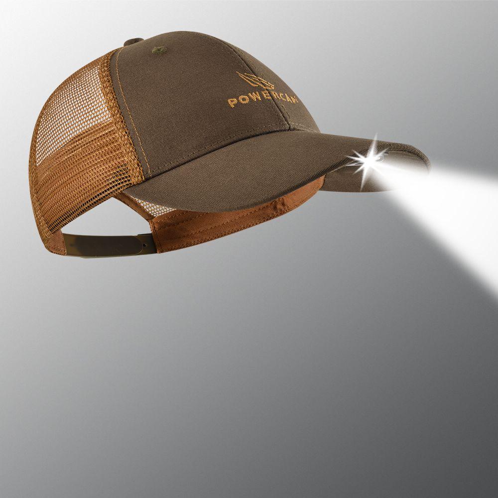 POWERCAP 2.0 Orange and Brown Lighted Trucker Hat
