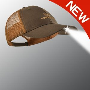 new orange and brown powercap lighted hat