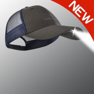 new blue and gray powercap lighted hat