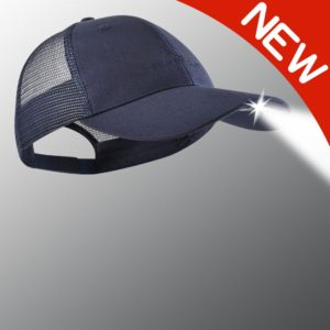 new navy powercap lighted hat