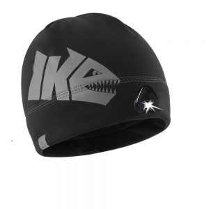 Ike Gray and Black Lighted Fishing Beanie