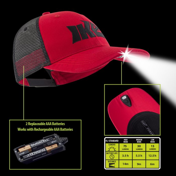 IKE Lighted Fishing Hat Technology