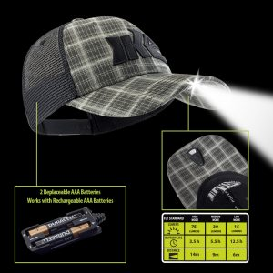 Pro Series Lighted Fishing Hat Technology