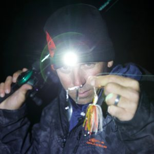 Lighted Beanie For Fishing in Low Light