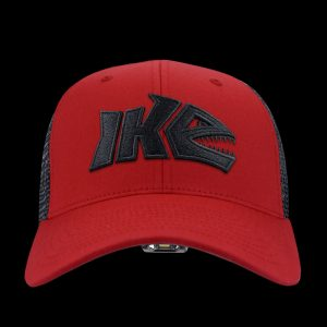 IKE Red and Black LED Fishing Hat