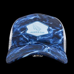 Aqua Blue Mossy Oak Lighted Fishing Hat