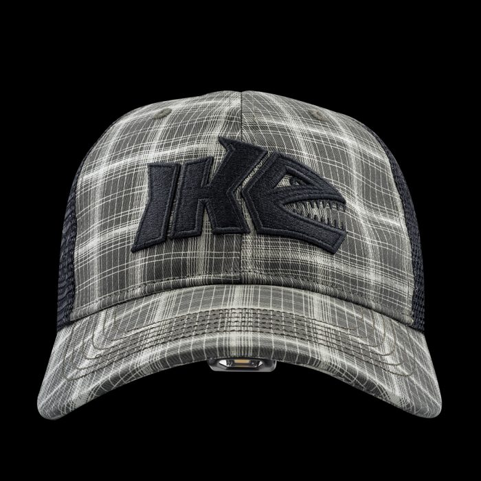 IKE Plaid Fishing LED Lighted Hat
