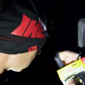 IKE Black and Red Lighted Beanie