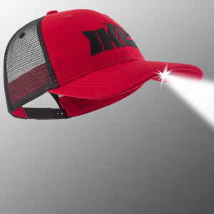 Red and Black Pro Series Lighted Fishing Hat