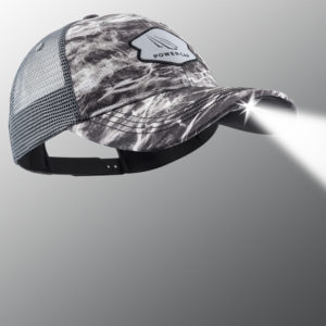 Mossy Oak Elements Gray Fishing LED Lighted Hat
