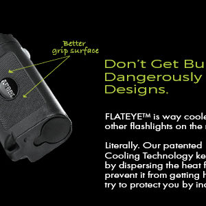 Flat Flashlight with Cooling Design