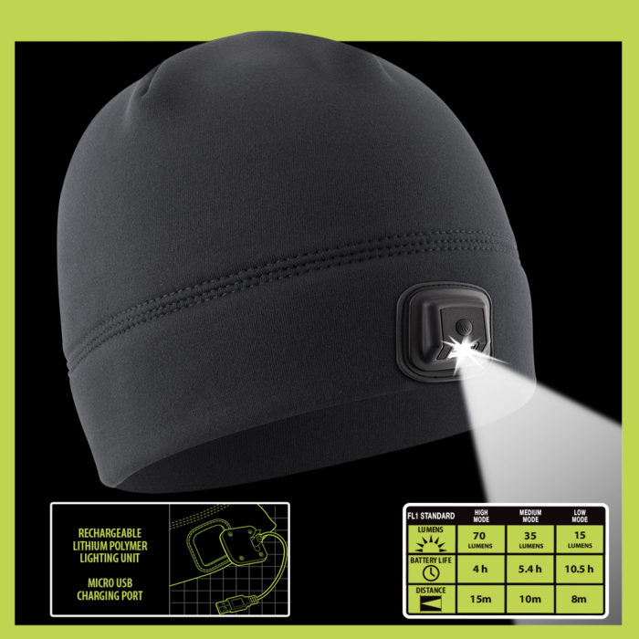 rechargeable lithium beanie