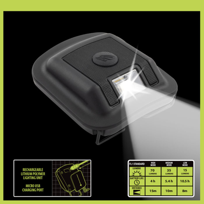 rechargeable lithium hat light